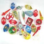Click here to enlarge image and see more about item 13331: 29 Piece Lot Jewel Brite Bradford Plastic Christmas Ornaments