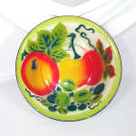 Click here to enlarge image and see more about item 13411: Graniteware 12 Inch Bowl With Fruit Decoration