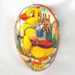 Large Paper Mache Easter Egg Candy Container 8 inches