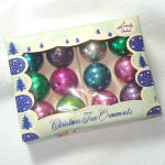 Click here to enlarge image and see more about item 13469: Box Shiny Brite Japan Feather Tree Christmas Ornaments