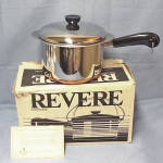 Click here to enlarge image and see more about item 13487: 1984 Revere Ware 3 Qt Saucepan Double Boiler Mint in Box