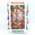 Click here to enlarge image and see more about item 13489: Box 24 Poland Blown Glass Christmas Ornaments