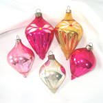 Click here to enlarge image and see more about item 13494: 1930s American Made Blown Glass Shapes Christmas Ornaments