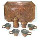 Click to view larger image of Antique Copper Childs Play Tea Set (Image5)