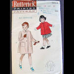 Click here to enlarge image and see more about item 1358: 1940s Girls Butterick Coat Pattern Size 10 Uncut