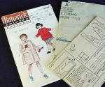 Click to view larger image of 1940s Girls Butterick Coat Pattern Size 10 Uncut (Image3)