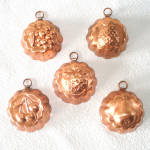 Click here to enlarge image and see more about item 13594: Copper Miniature Candy or Tart Molds, Set of 5