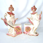 Click to view larger image of Treasure Craft 1950s Balinese Exotic Dancers Ceramic Planters (Image8)