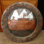 Click here to enlarge image and see more about item 13609: Mixed Metals Fort Jackson Tetons Wyoming Massive Wall Charger
