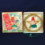 Click here to enlarge image and see more about item 13614: Pixie Circle of Light Wreath Tree Topper In Original Box