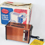 Click here to enlarge image and see more about item 13658: Sunbeam Copper Toaster in Original Box