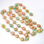 Click here to enlarge image and see more about item 13669: Mercury Glass Christmas Bead Garland Pastel Stripes
