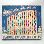 Click here to enlarge image and see more about item 13675: Box Diamond Ray Jeweled Icicles Christmas Ornaments 2-Tone