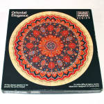 Click here to enlarge image and see more about item 13680: Oriental Elegance Round Tapestry Rug Springbok Jigsaw Puzzle