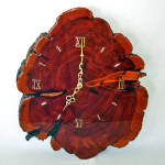 Click here to enlarge image and see more about item 13686: Cypress Burl Slab Large Wooden Wall Clock Gorgeous Grain