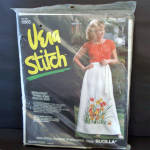 Click here to enlarge image and see more about item 13698: Bucilla Vera Neumann Spring Song Hostess Skirt Needlework Kit