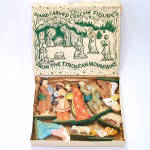Click here to enlarge image and see more about item 13710: Box Anri Italy Hand Carved Wood Miniature Nativity Figures Christmas