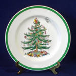 Click here to enlarge image and see more about item 13718: Spode Christmas Tree Dinner Plate 1976 Mint