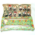 Click here to enlarge image and see more about item 13722: Box 1950s Italian Pinecone Gnomes Elves Christmas Lights