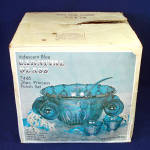 Click to view larger image of Indiana Blue Carnival Harvest Grape Glass Punch Set in Original Box (Image2)