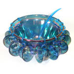 Click to view larger image of Indiana Blue Carnival Harvest Grape Glass Punch Set in Original Box (Image3)