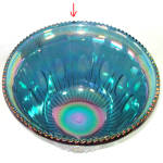 Click to view larger image of Indiana Blue Carnival Harvest Grape Glass Punch Set in Original Box (Image5)