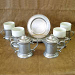 Click here to enlarge image and see more about item 13727: Wilton Armetale Plough Tavern 10 Piece Coffee Dessert Set