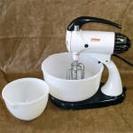 Click here to enlarge image and see more about item 13766: Sunbeam 1950s Electric Mixmaster Mixer With 2 Bowls
