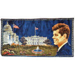 Click here to enlarge image and see more about item 13805: President John F Kennedy 1965 Italian Wall Tapestry