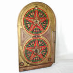 Click here to enlarge image and see more about item 13806: Lindstrom's Gold Star Pinball Game Board Dated 1933