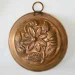 Click here to enlarge image and see more about item 13808: Denmark Copper Daisy Flower Pudding Mold