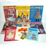 Click here to enlarge image and see more about item 13811: 9 Issues Doll World Doll News Magazines 1970s