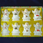 Click to view larger image of 1950s Japan Porcelain Angels Christmas Ornaments Mint in Box (Image2)