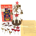 Click here to enlarge image and see more about item 13814: Jingle Abra Swedish Brass Christmas Angel Reindeer Candle Chimes