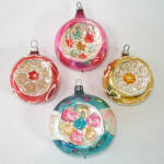 Multi Indent West Germany Glass Christmas Ornaments
