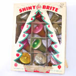 Click here to enlarge image and see more about item 13838: Box Shiny Brite Glass Bells Christmas Ornaments