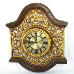 Click here to enlarge image and see more about item 13848: Syroco 1967 Retro Wall Clock Florentine Arches