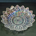 Click here to enlarge image and see more about item 13850: Federal Iridescent Petal 10 inch Glass Bowl