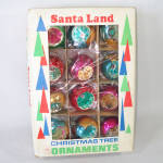 Click to view larger image of Box Poland Fancy Flower Indent Glass Christmas Ornaments (Image2)