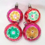 Click to view larger image of Box Poland Fancy Flower Indent Glass Christmas Ornaments (Image4)