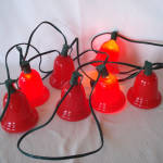 Click to view larger image of String 1950s Christmas Lights Big Red Bell Shades (Image4)