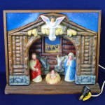 Click here to enlarge image and see more about item 13929: Royal Electric Musical Christmas Nativity Display in Original Box