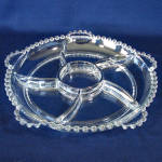 Click to view larger image of Imperial Candlewick 10 Inch 6 Part Crystal Relish Dish (Image2)
