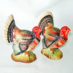 Click here to enlarge image and see more about item 13964: Enesco 1960s Ceramic Turkey Salt Pepper Shakers