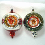 Double Indent West Germany 1950s Christmas Ornaments