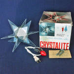 Click here to enlarge image and see more about item 13984: Eames Era Crystalite Star Lucite Lighted Christmas Tree Topper In Box