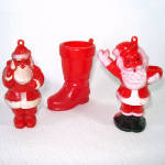 Click to view larger image of Lot 1950s American Made Hard Plastic Christmas Ornaments (Image6)
