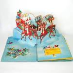 Click to view larger image of 1953 Christmas Pop Up Santa Mother Goose Book In Box With Toys (Image2)