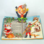 Click to view larger image of 1953 Christmas Pop Up Santa Mother Goose Book In Box With Toys (Image3)