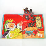 Click to view larger image of 1953 Christmas Pop Up Santa Mother Goose Book In Box With Toys (Image4)
